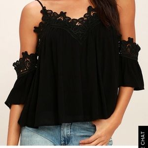Lulus lace off the shoulder top
